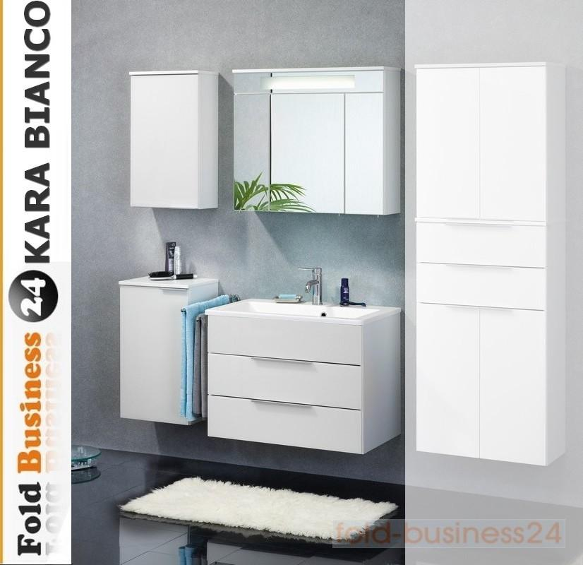 badm bel fackelmann kara bianco wei set 5 teilig glasbecken auswahl ebay. Black Bedroom Furniture Sets. Home Design Ideas