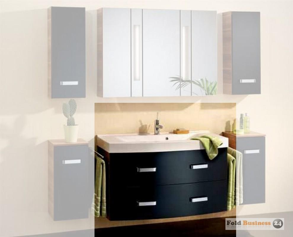 badm bel fackelmann arte 7 schwarz set 2 teilig ebay. Black Bedroom Furniture Sets. Home Design Ideas