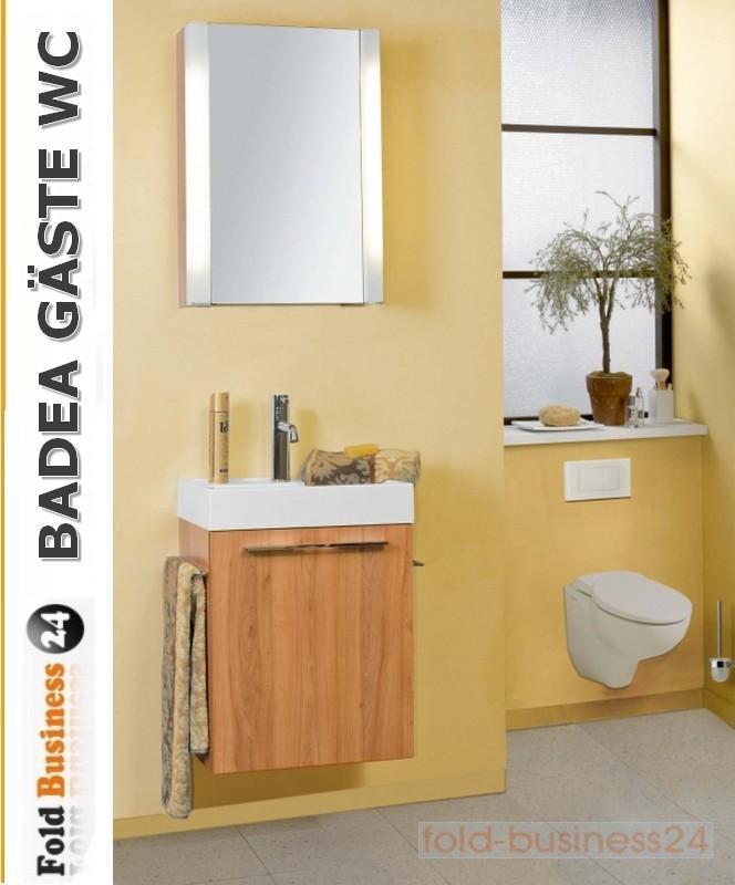 badea badm bel g ste wc kombination 7 tlg inklusive beleuchtung ebay. Black Bedroom Furniture Sets. Home Design Ideas