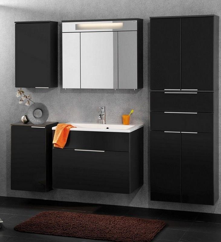 fackelmann badm bel kara anthrazit set 6 1 rg gussbecken ebay. Black Bedroom Furniture Sets. Home Design Ideas