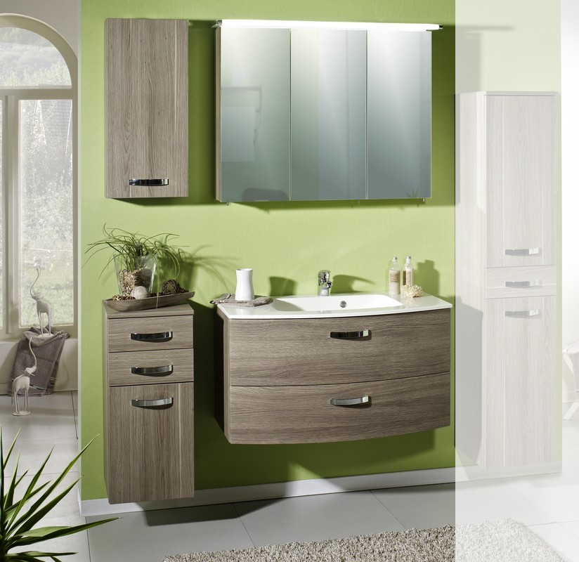 schildmeyer badm bel nele set 3 eiche grau dekor ebay. Black Bedroom Furniture Sets. Home Design Ideas