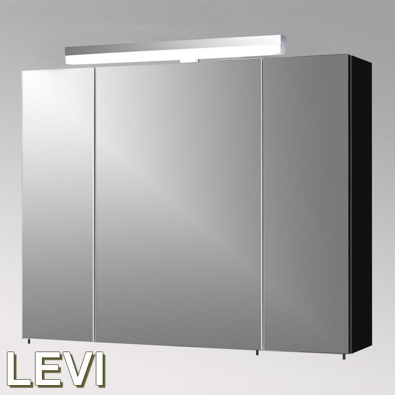 schildmeyer badm bel levi spiegelschrank 90 3 t ren in schwarz glanz ebay. Black Bedroom Furniture Sets. Home Design Ideas