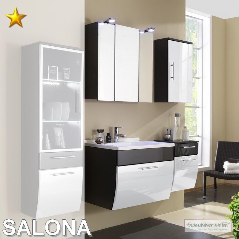 posseik badm bel salona set 4 in anthrazit wei hochglanz ebay. Black Bedroom Furniture Sets. Home Design Ideas