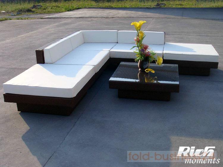 Rich-Moments Rattan Lounge u0026quot;KAIROu0026quot; braun : eBay