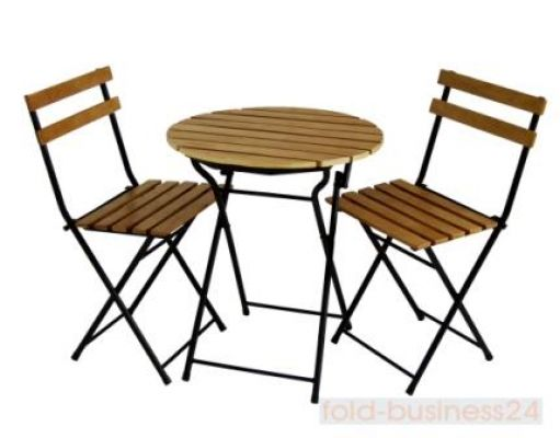 bistro tisch mit 2 st hlen garten set ebay. Black Bedroom Furniture Sets. Home Design Ideas