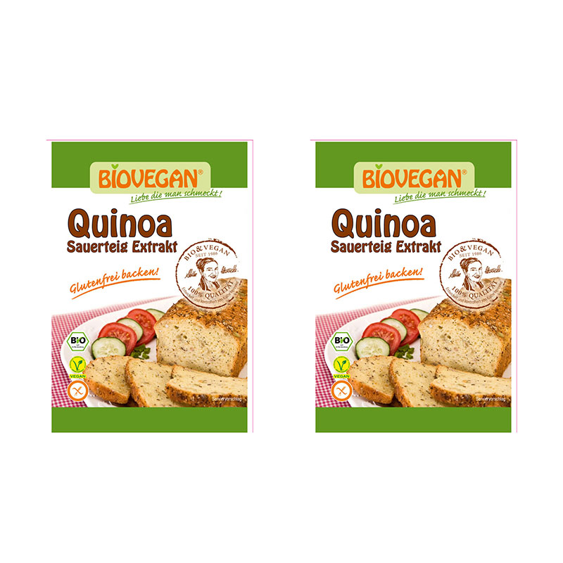 2 x biovegan quinoa sauerteig extrakt bio vegan 20g. Black Bedroom Furniture Sets. Home Design Ideas