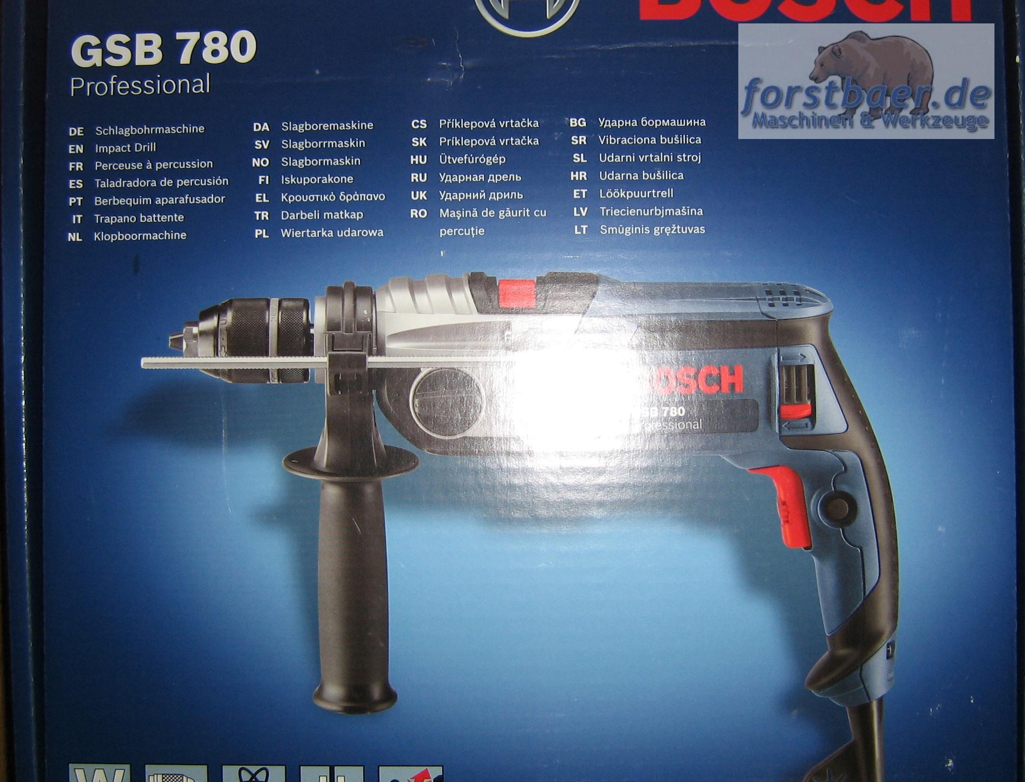 bosch gsb 780 professional schlag bohrmaschine ebay. Black Bedroom Furniture Sets. Home Design Ideas