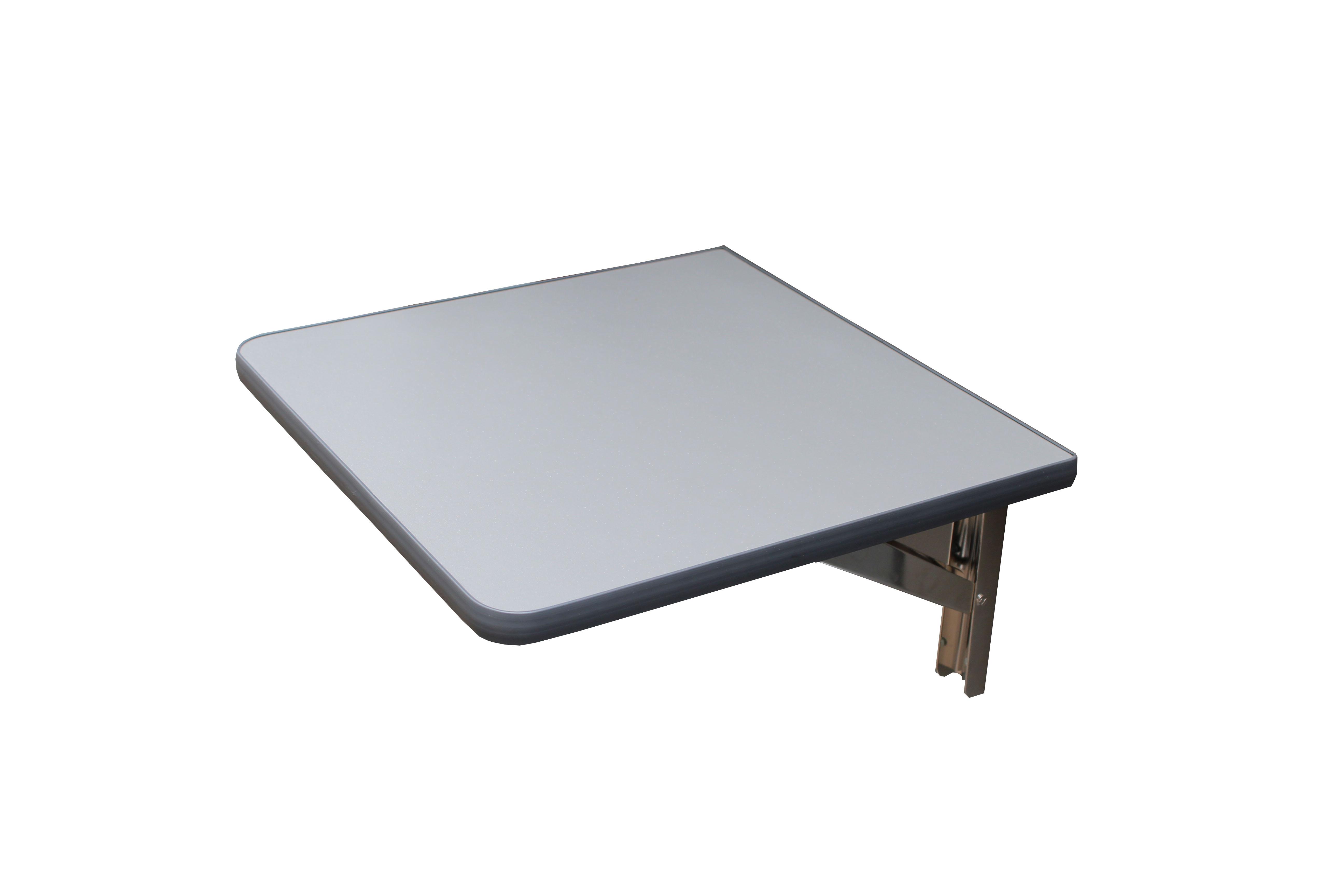Wandklapptisch mit edelstahl klappenaussteller anthrazit metallic 40x35 cm ebay - Wandklapptisch ebay ...