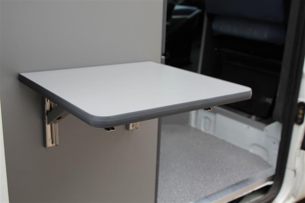 wandklapptisch mit edelstahl klappenaussteller anthrazit metallic 40x35 cm ebay. Black Bedroom Furniture Sets. Home Design Ideas