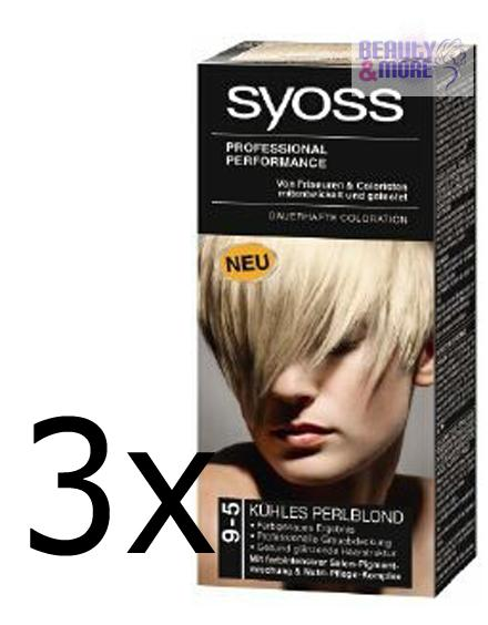 3x schwarzkopf syoss haarfarbe 9 5 k hles perlblond. Black Bedroom Furniture Sets. Home Design Ideas