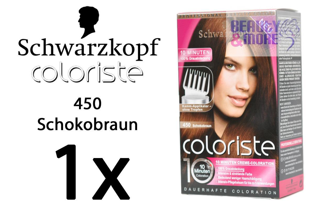 Schwarzkopf coloriste haarfarbe 450 schokobraun eur 4 49 picclick de - 10 minuten haarfarbe ...