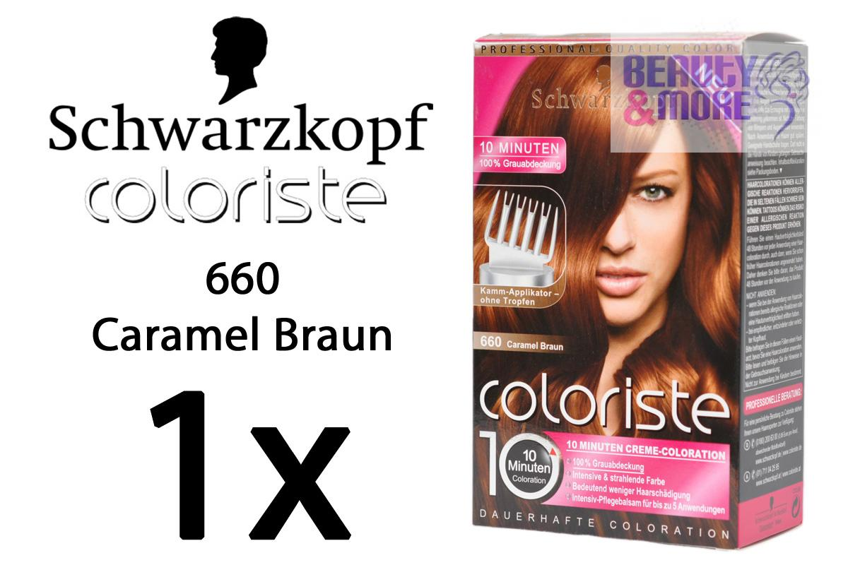 schwarzkopf coloriste haarfarbe 660 caramel braun ebay. Black Bedroom Furniture Sets. Home Design Ideas