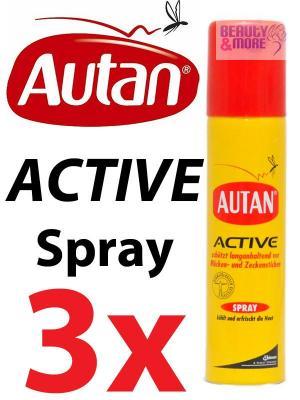 3x autan active spray m ckenstich schutz vor m cken ebay. Black Bedroom Furniture Sets. Home Design Ideas