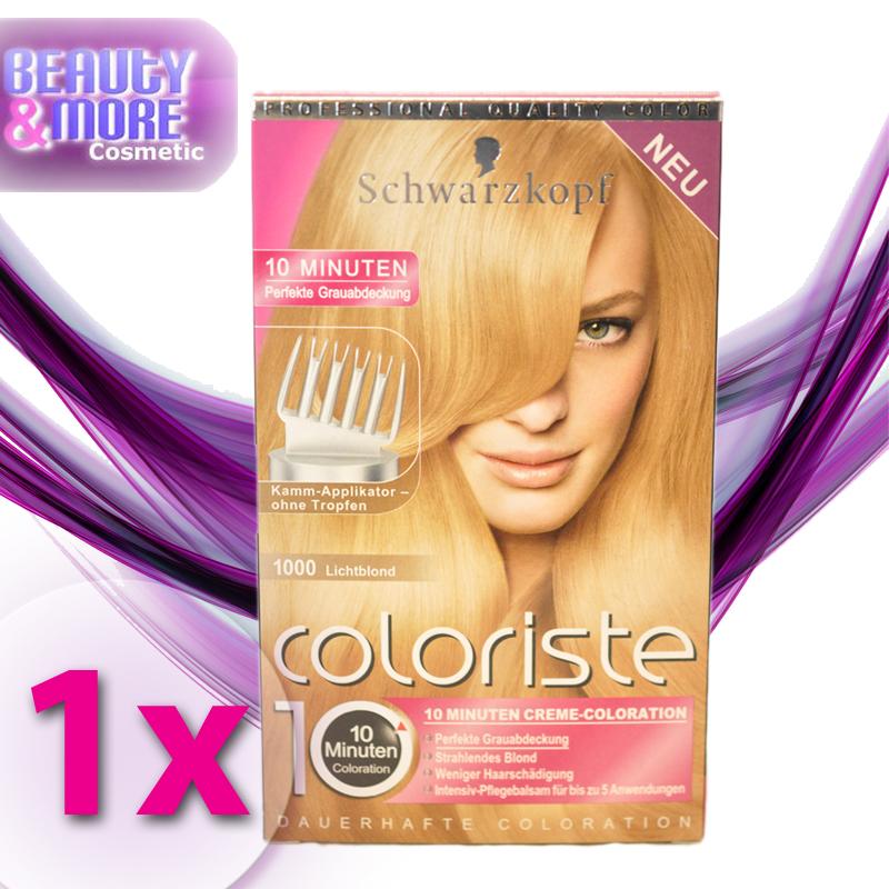 Schwarzkopf coloriste haarfarbe 1000 lichtblond ebay for 10 minuten haarfarbe