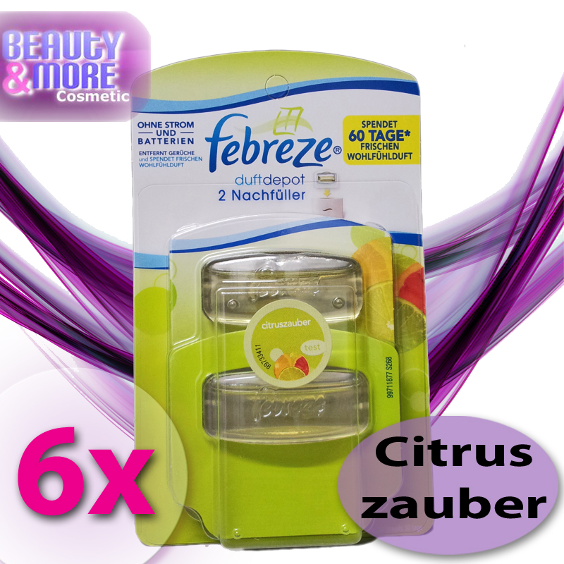 6x febreze duftdepot nachf ller citruszauber lufterfrischer ebay. Black Bedroom Furniture Sets. Home Design Ideas