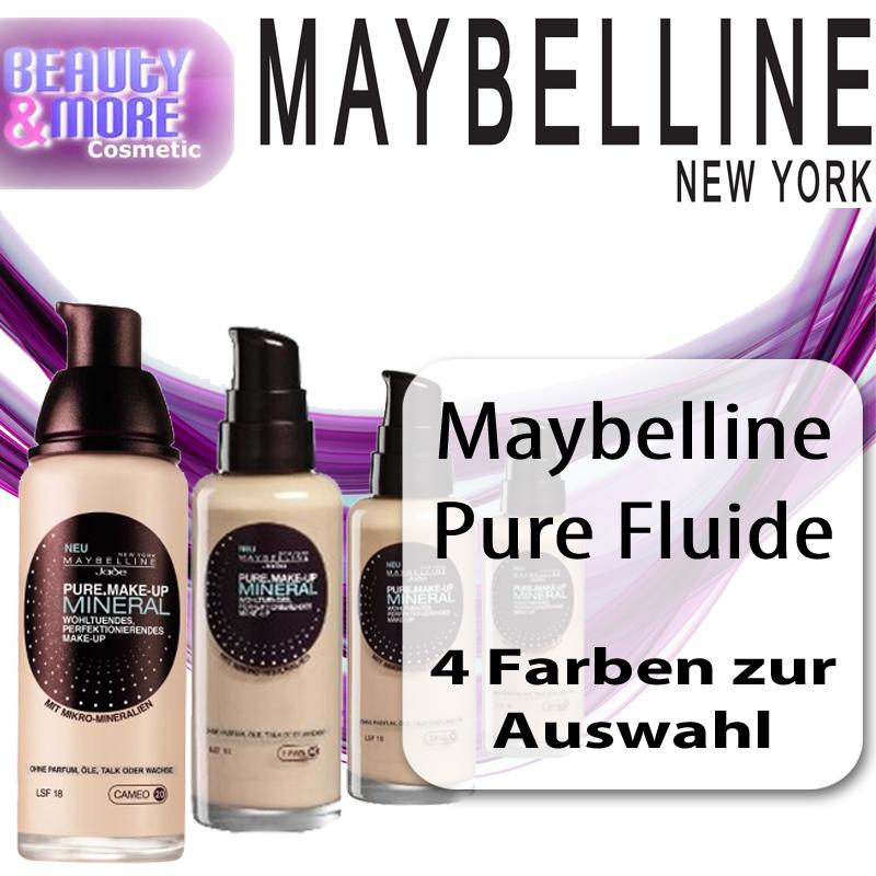maybelline pure fluide mineral make up fl ssig make up lsf. Black Bedroom Furniture Sets. Home Design Ideas