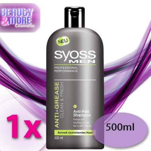 syoss anti grease clean fresh anti fett shampoo r ckfettendes haar ebay. Black Bedroom Furniture Sets. Home Design Ideas