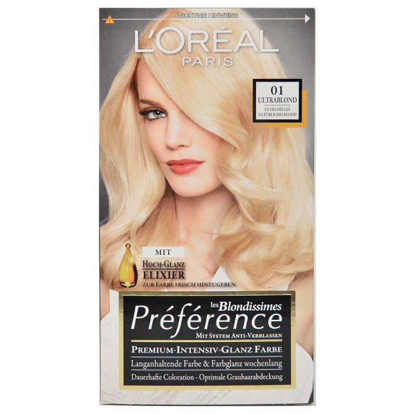 loreal preference 01 ultrablond nat rliches blond mit glanz elixir 180ml ebay. Black Bedroom Furniture Sets. Home Design Ideas