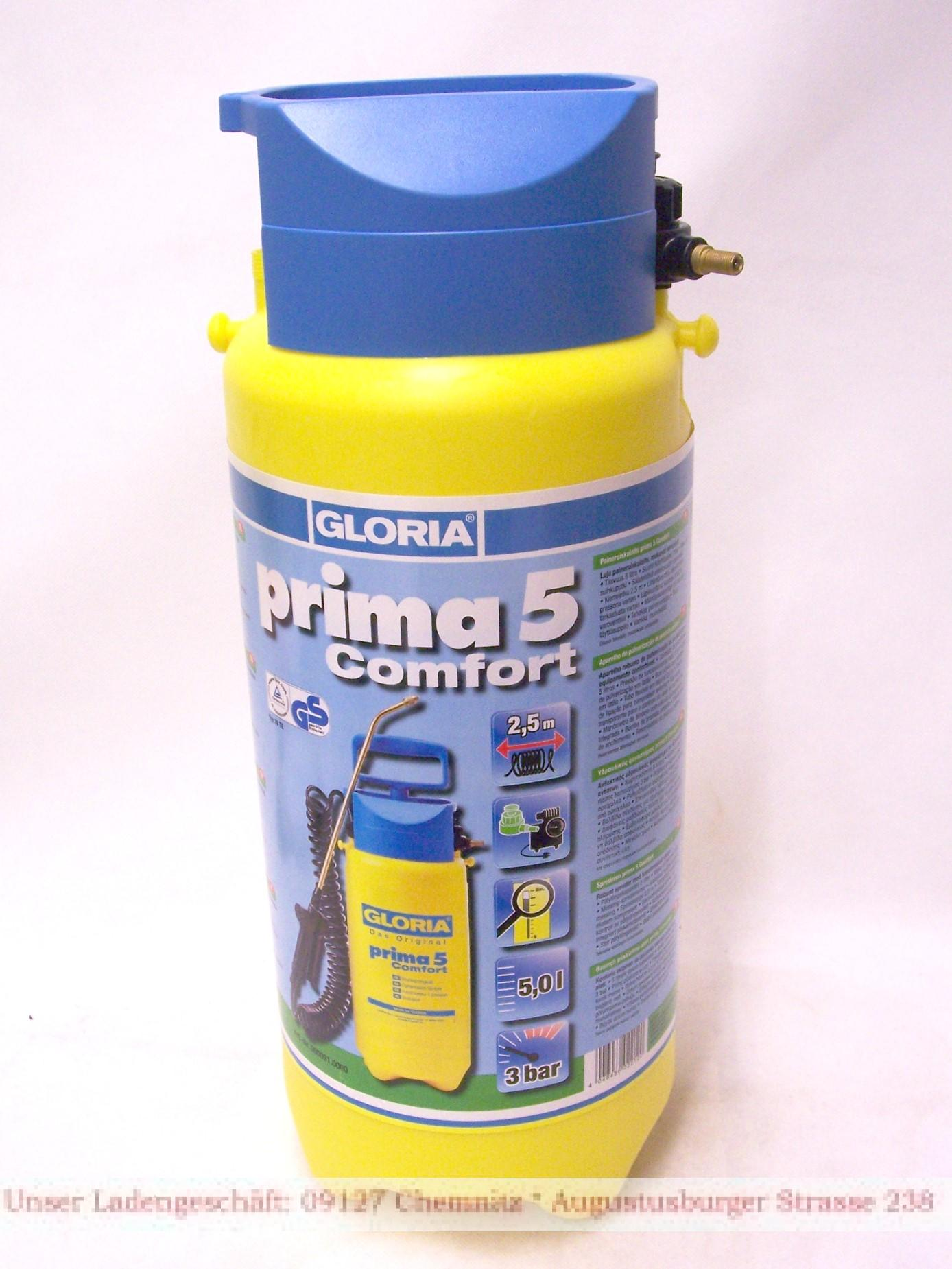 ersatzbeh lter druckspritze 5 liter gloria serie prima primex spray paint wh ebay. Black Bedroom Furniture Sets. Home Design Ideas