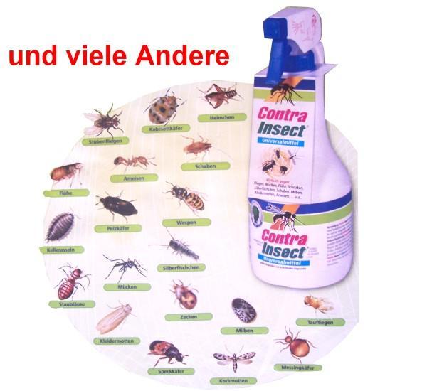 contra insect gegen hunde und katzenfl he insektenbek mpfung wohnung 1000ml wh ebay. Black Bedroom Furniture Sets. Home Design Ideas