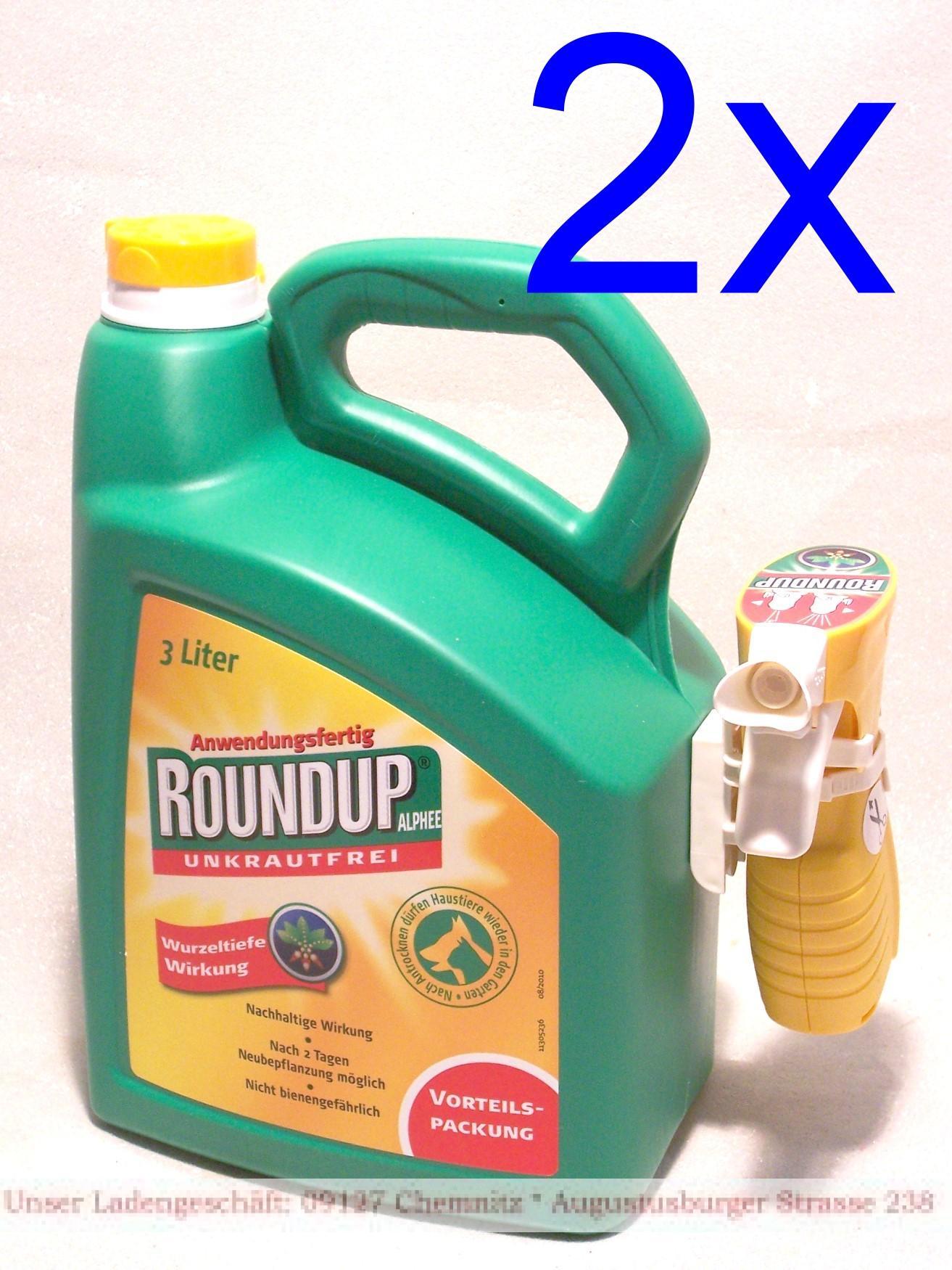 Roundup® Alphee Unkrautfrei 2x3 Liter Anwendungsfertiges ...