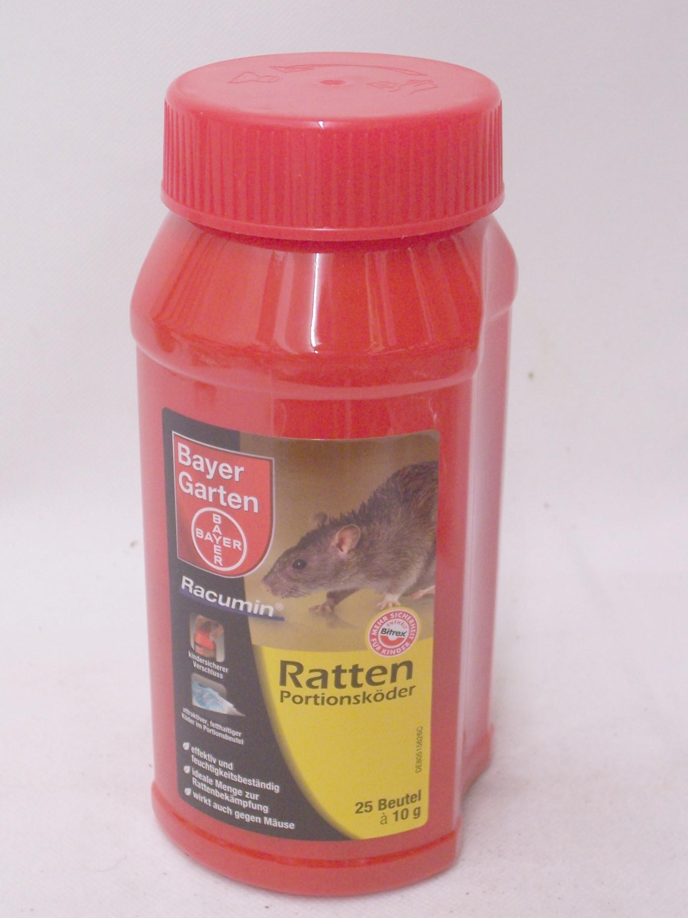 ratten 25 portionsk der racumin bayer garten rattengift auch m usegift ebay. Black Bedroom Furniture Sets. Home Design Ideas