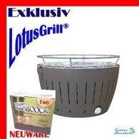 LotusGrill ® antra Grill incl. Special-Kohle, Batterien, Tasche, Brennpaste