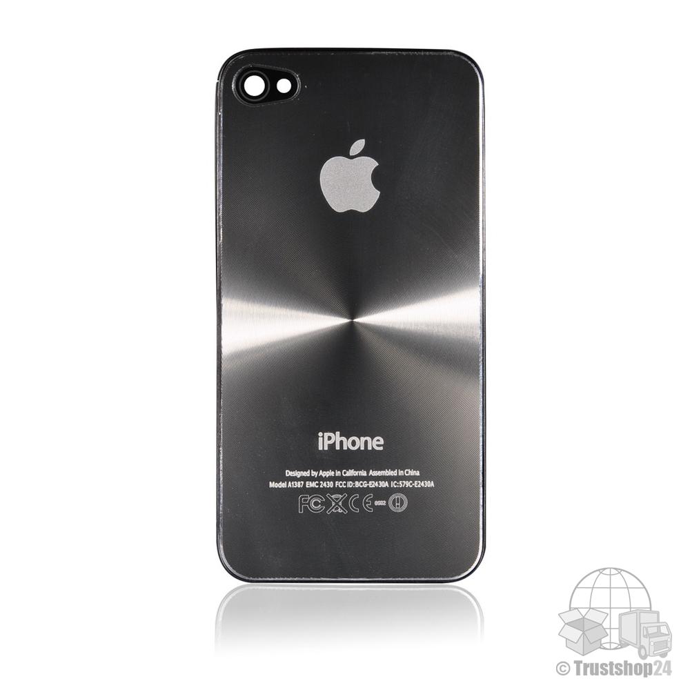 iphone 4 4g backcover silber case h lle akkudeckel r ckseite schale aluminium ebay. Black Bedroom Furniture Sets. Home Design Ideas