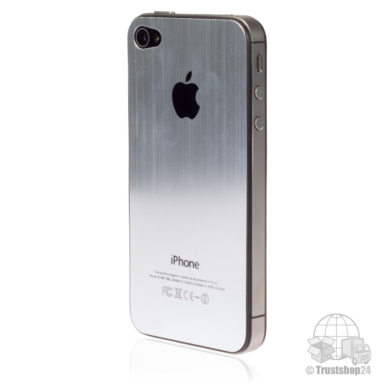 iphone 4s backcover silber case h lle akkudeckel r ckseite schale aluminium neu ebay. Black Bedroom Furniture Sets. Home Design Ideas