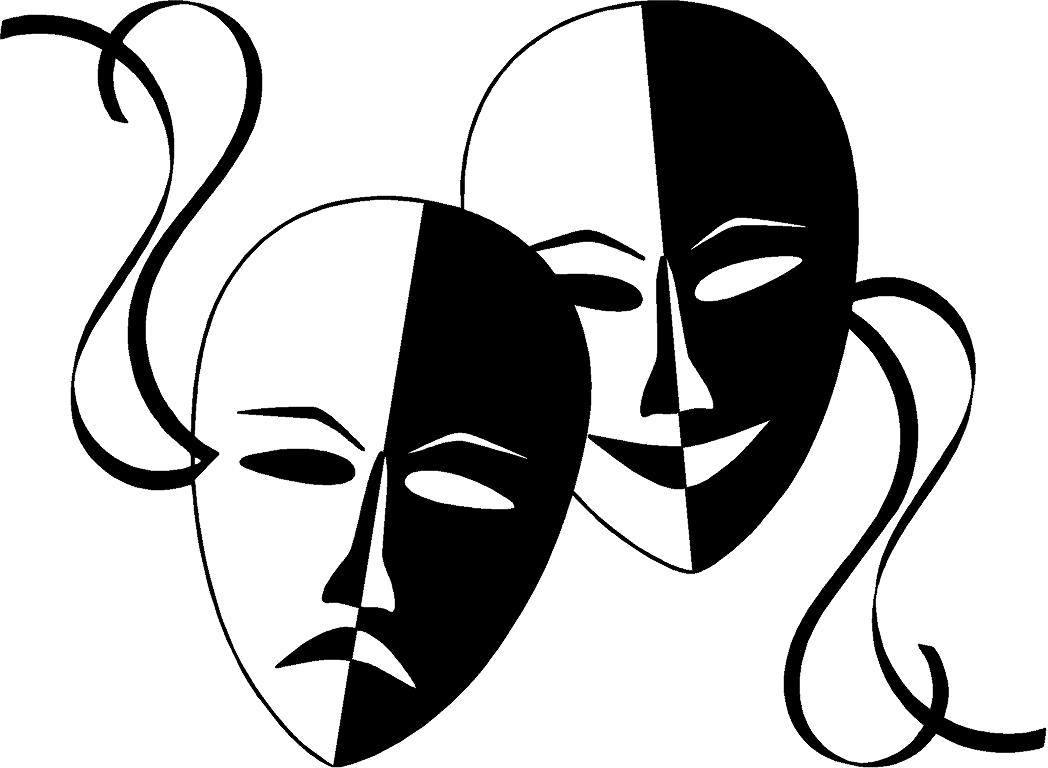 Antique Design Theater Masken Aufkleber Kultur Maske Schauspieler Ebay