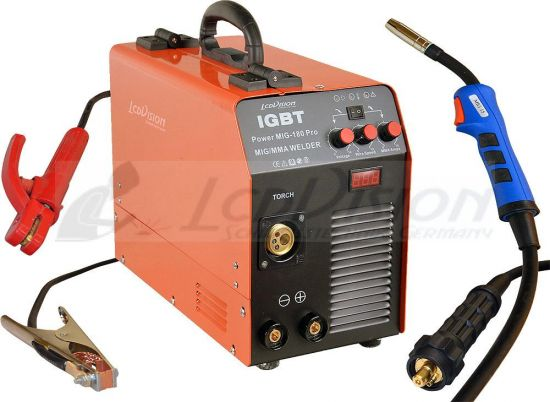 mig mag welding machine power mig 180 pro e hand igbt inverter 230v inert gas ebay. Black Bedroom Furniture Sets. Home Design Ideas
