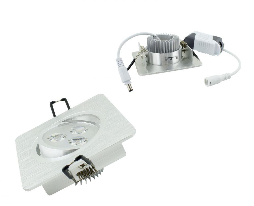 led einbau strahler einbaustrahler deckenlampe spot dimmbar 230v lampe leuchte ebay. Black Bedroom Furniture Sets. Home Design Ideas