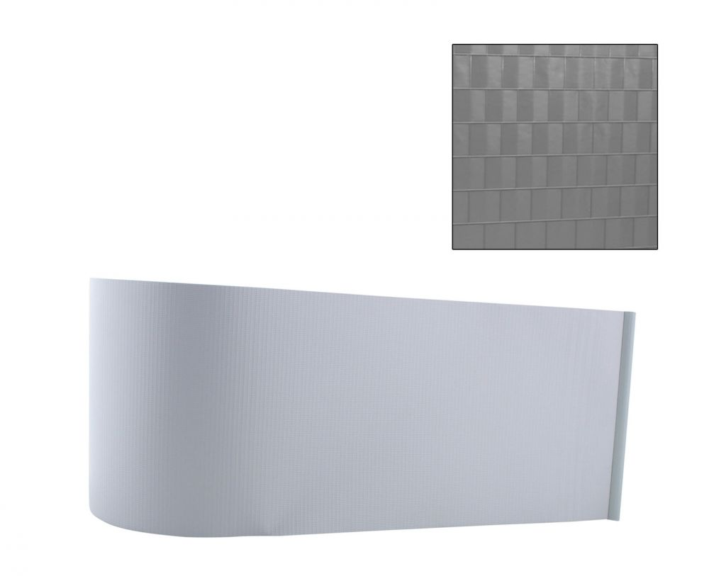 sichtschutz streifen windschutz doppelstabmatten zaun grau. Black Bedroom Furniture Sets. Home Design Ideas