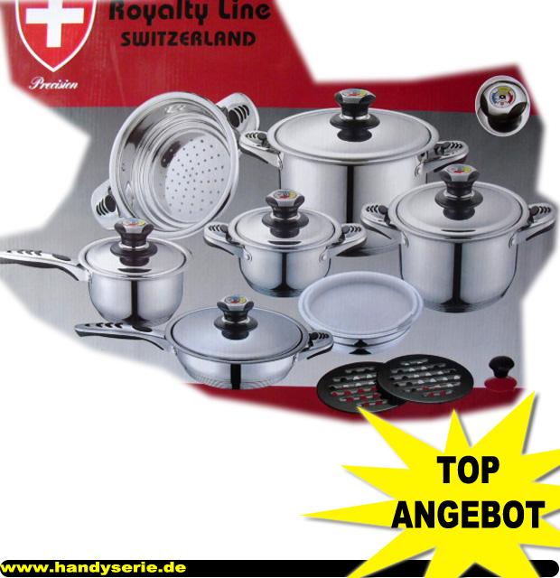 Royalty Line 16 Teiliges Hochwertiges Kochgeschirr Set EDELSTAHL Made in Schweiz eBay