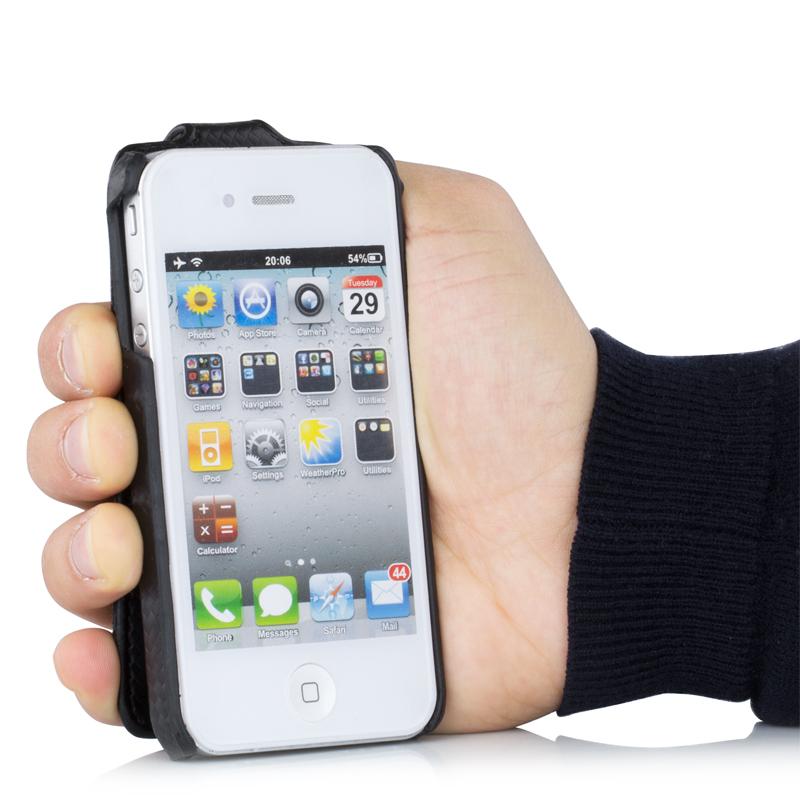 hsrpro slim carbon h lle f r iphone 4 4s tasche cover schutzh lle flip case ebay. Black Bedroom Furniture Sets. Home Design Ideas