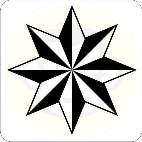 stern oktagon aufkleber achteck sticker star tattoo ebay. Black Bedroom Furniture Sets. Home Design Ideas