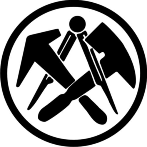 Dachdeckerzeichen  Dachdecker Zunft Symbol Auto Aufkleber Car Tattoo | eBay