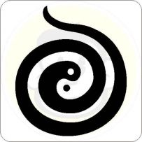 yin yang spirale aufkleber feng shui tattoo energie sticker ebay. Black Bedroom Furniture Sets. Home Design Ideas