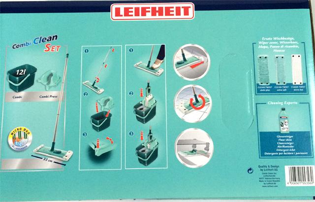leifheit 55356 combi clean set m bodenwischer set neu ovp ebay. Black Bedroom Furniture Sets. Home Design Ideas