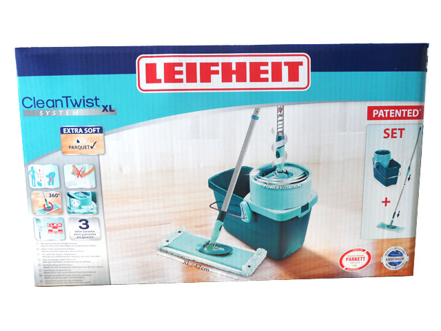 leifheit 52015 twist system evo xl floor mop im set new. Black Bedroom Furniture Sets. Home Design Ideas