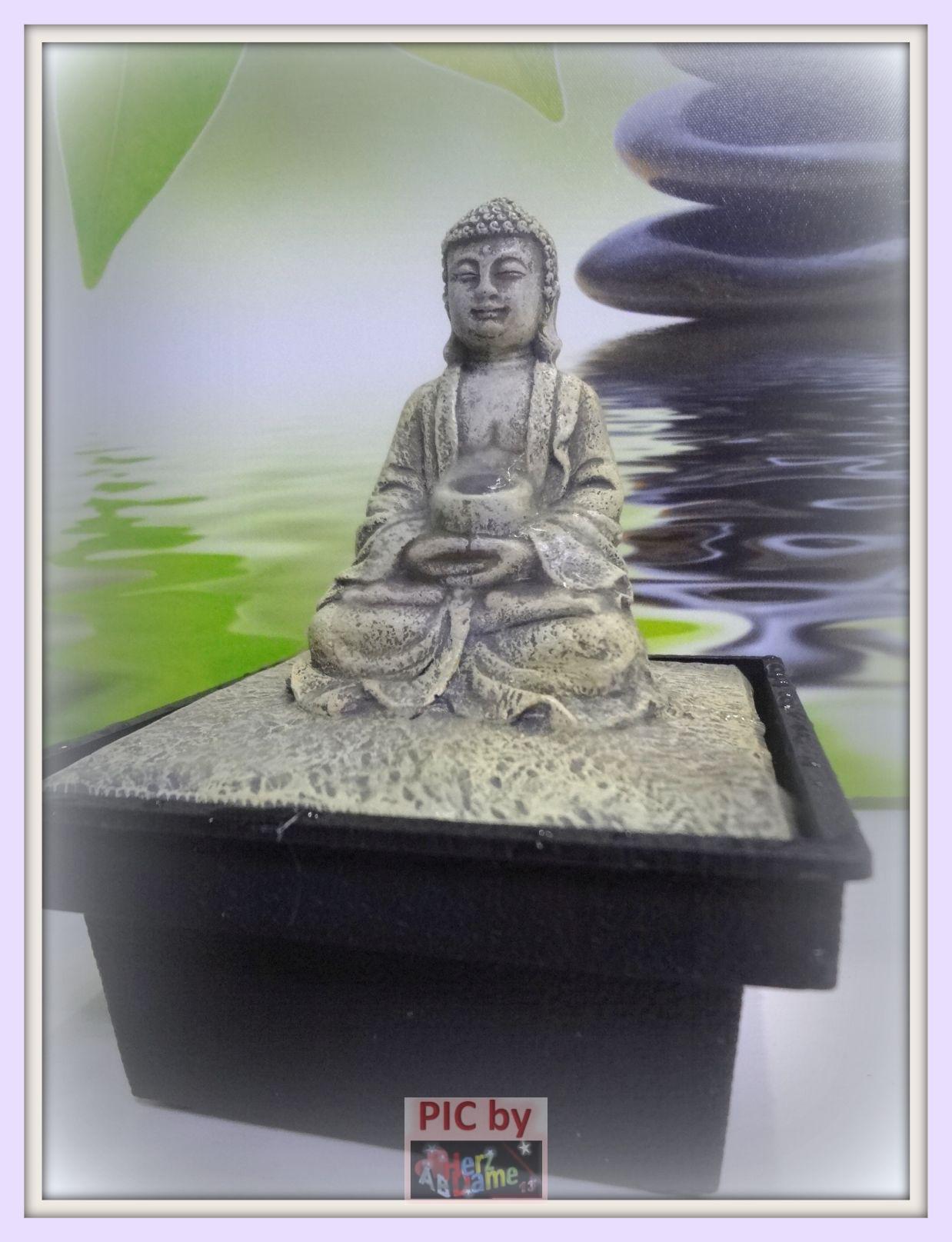 Ab474b meditation raum deko kleiner zimmerbrunnen buddha feng shui neu s ss ebay - Kleiner liegestuhl deko ...