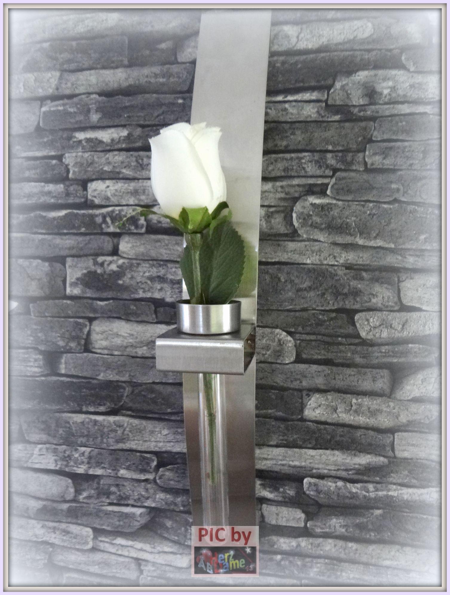 ab691 twin deko teelichthalter 2er vase wand edler stahl. Black Bedroom Furniture Sets. Home Design Ideas