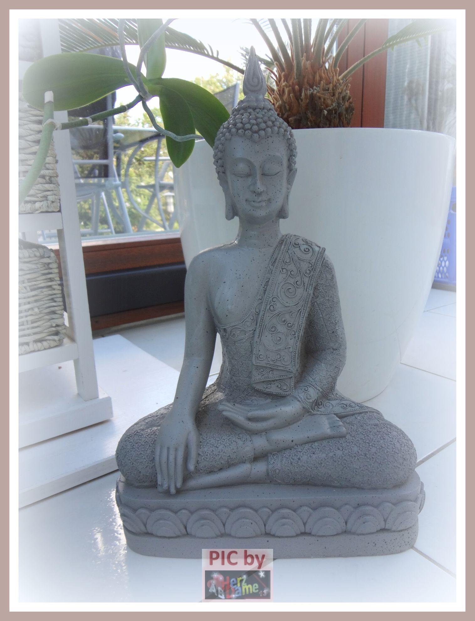 ab272 figur skulptur deko meditation buddha asia thai feng shui neu 40cm ebay. Black Bedroom Furniture Sets. Home Design Ideas