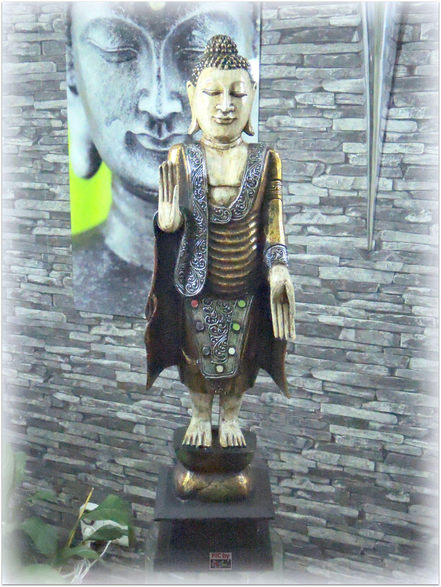 ab holz geschnitzt asien skulptur xl 81cm buddha feng. Black Bedroom Furniture Sets. Home Design Ideas
