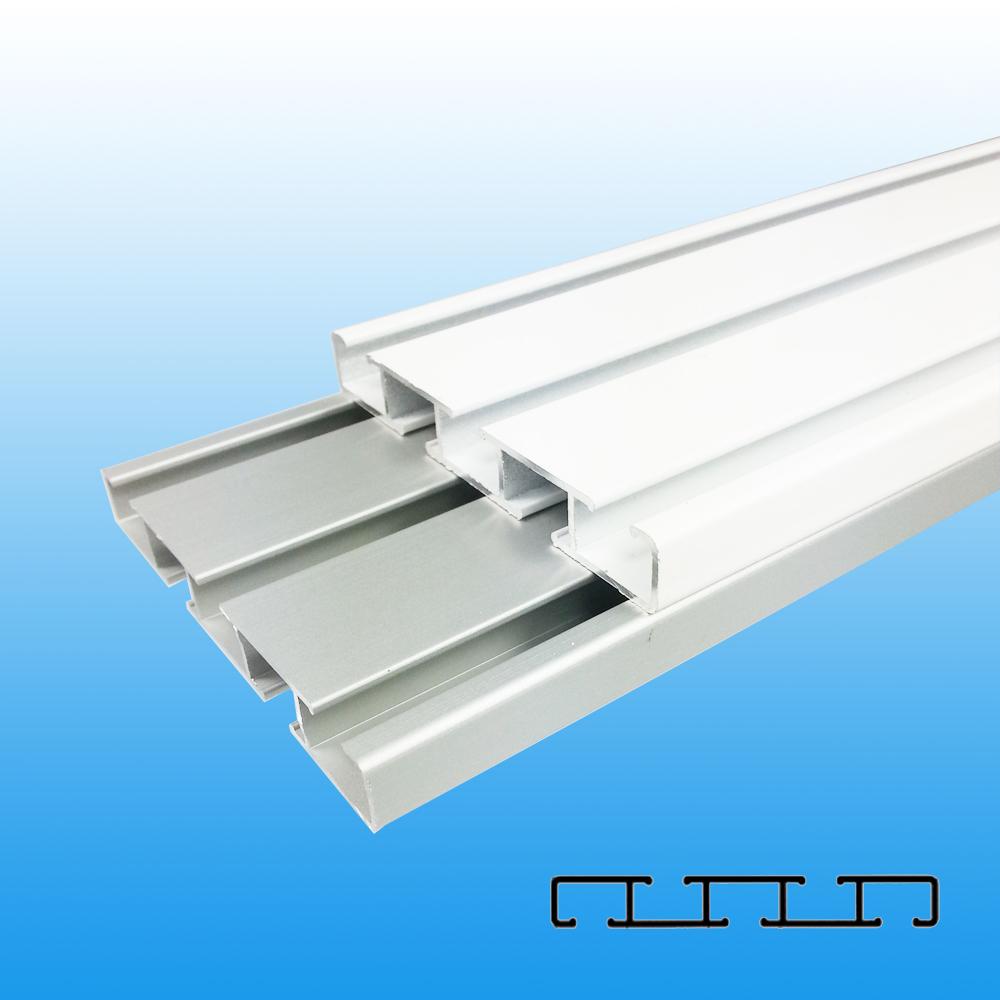 aluminium vorhangschiene gardinenschiene wei alu wendeschiene 2 3 l ufig 1 2m ebay. Black Bedroom Furniture Sets. Home Design Ideas