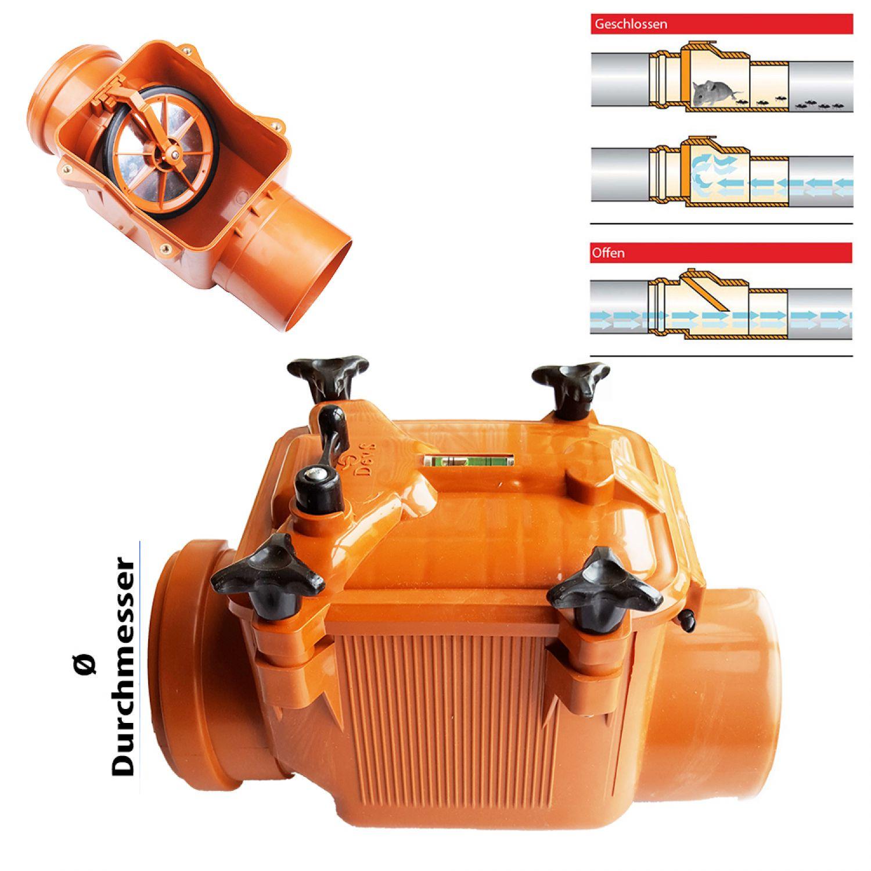 Rückstauklappe  Ø 75 mm Rückstauverschluss Rattenschutz Geruchsverschluss