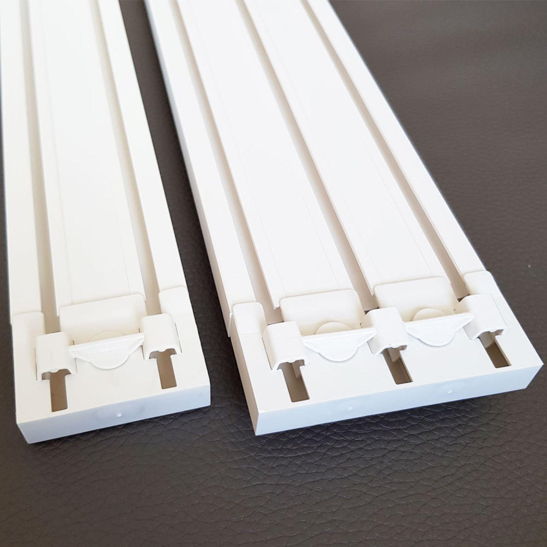 2 3 l ufige pvc gardinenschienen innenlaufschienen deckenschienen endkappen ebay. Black Bedroom Furniture Sets. Home Design Ideas
