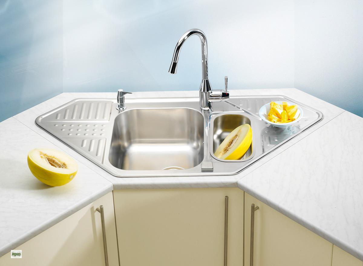 Corner Kitchen Sink Unit : Corner sink stainless steel sink sink unit pixel 60 kitchen sink 1090 ...