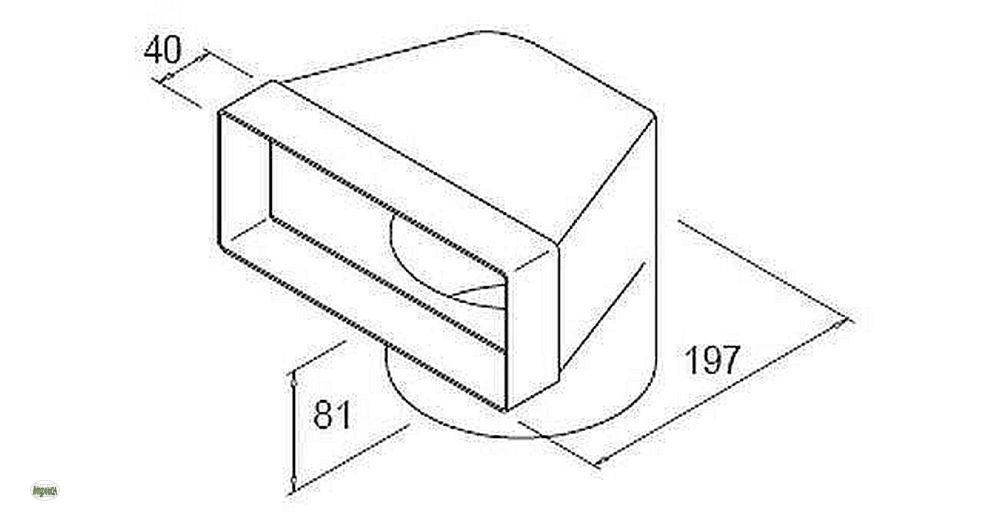 volumina 150 flachkanal umlenkst ck flach 150 abluftkanal stutzen 50307 a ebay. Black Bedroom Furniture Sets. Home Design Ideas