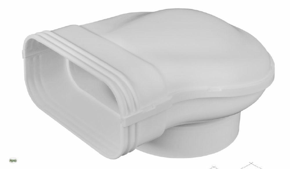 umlenkst ck proguide flachkanal 150x70mm zu 125 abluftkanal dunstabzug 50422 b ebay. Black Bedroom Furniture Sets. Home Design Ideas
